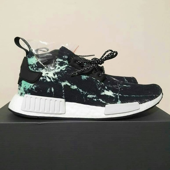 detailed look 3ae6b cf4ab Adidas NMD R1 Marble Aero Green 8.5 NWT
